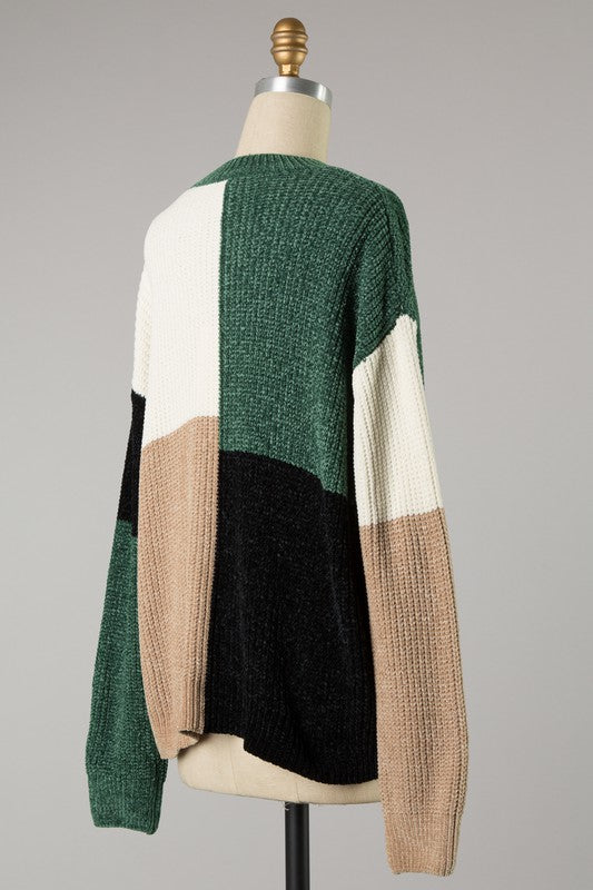 block it off - chenille sweater