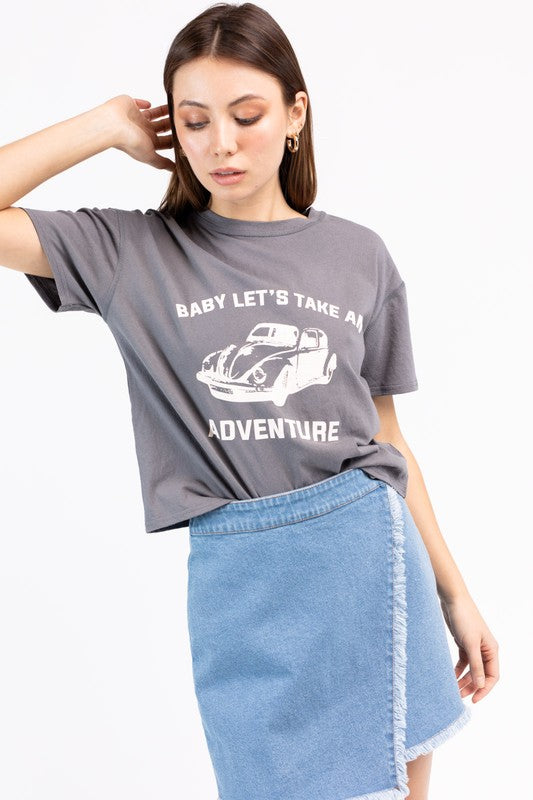 baby lets take an adventure tee