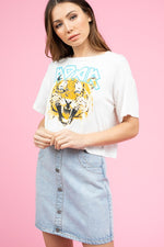cool cat cropped tee