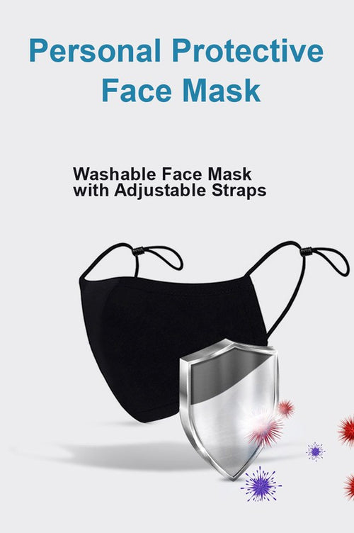 adjustable solid black neoprene mask
