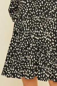 dotted print dress
