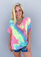 Load image into Gallery viewer, cutout tie dye tee