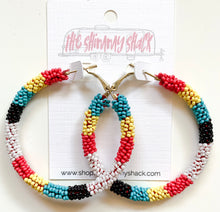 Load image into Gallery viewer, beaded hoop earrings