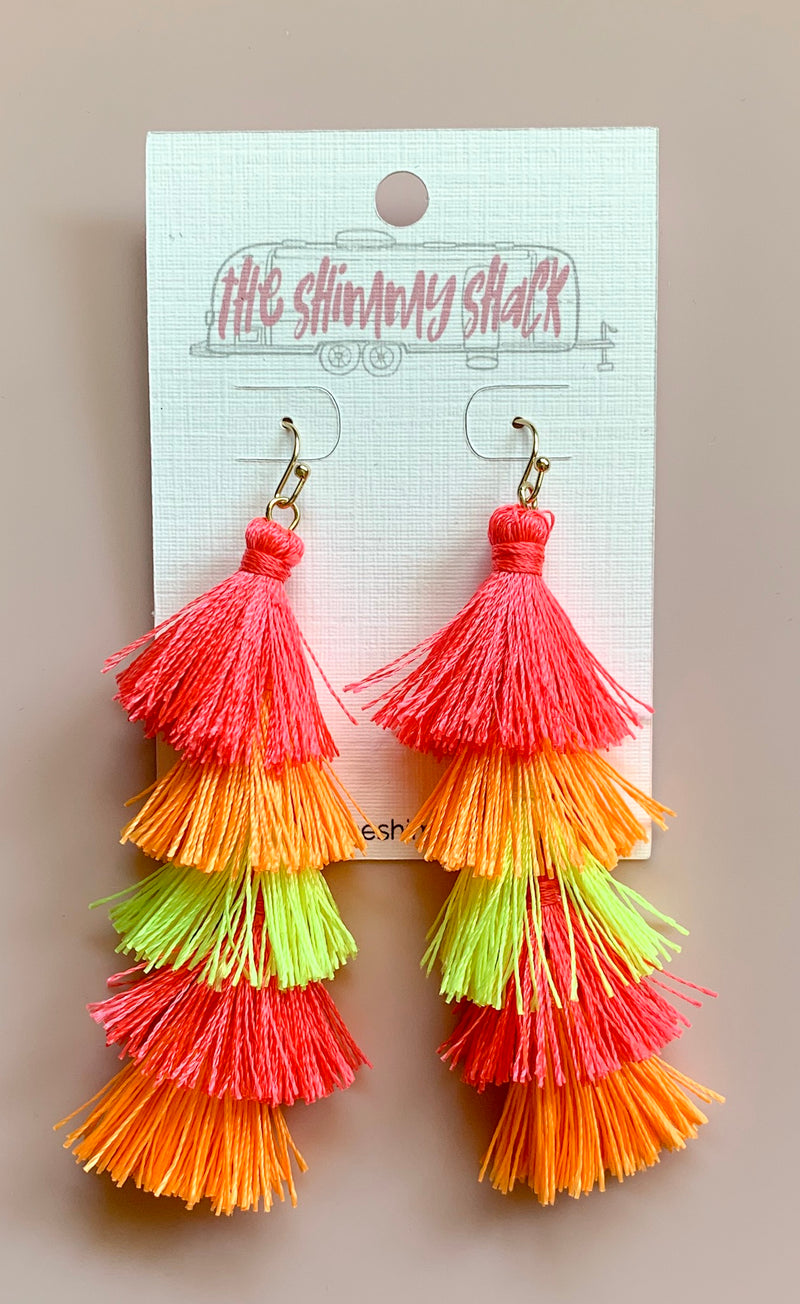 turnin' neon earrings