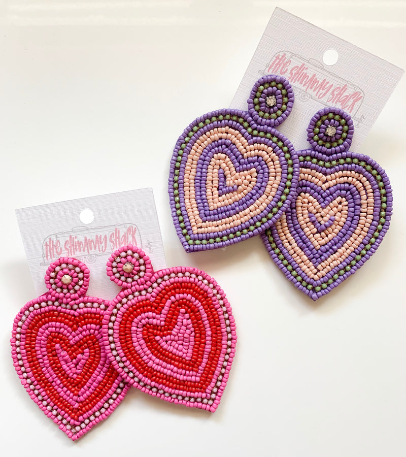 heart attack earrings