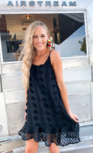 Load image into Gallery viewer, shake your pom pom dress: black & ivory