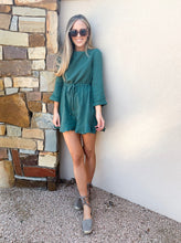 Load image into Gallery viewer, momiform romper: green & blue