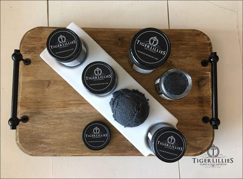 citrus charcoal foaming sugar scrub