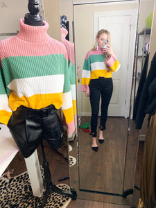 cropped neapolitan sweater
