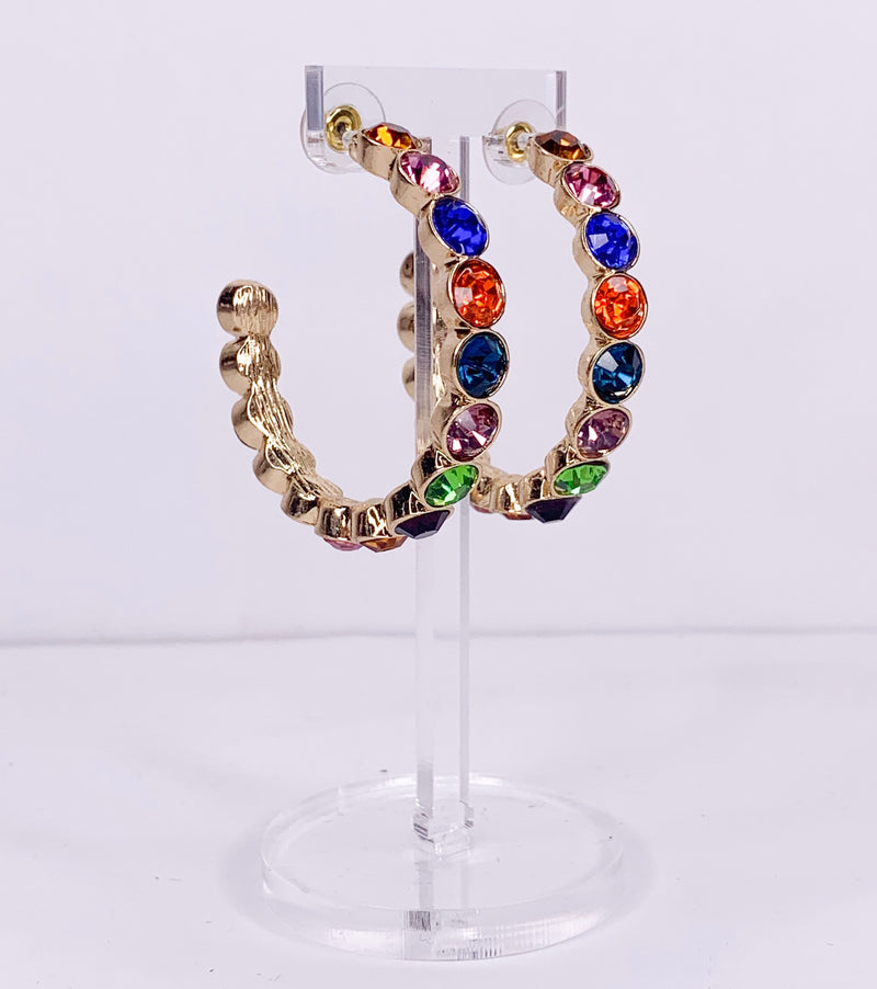 color block gold hoops