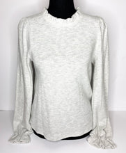 Load image into Gallery viewer, grey ruffle hem top