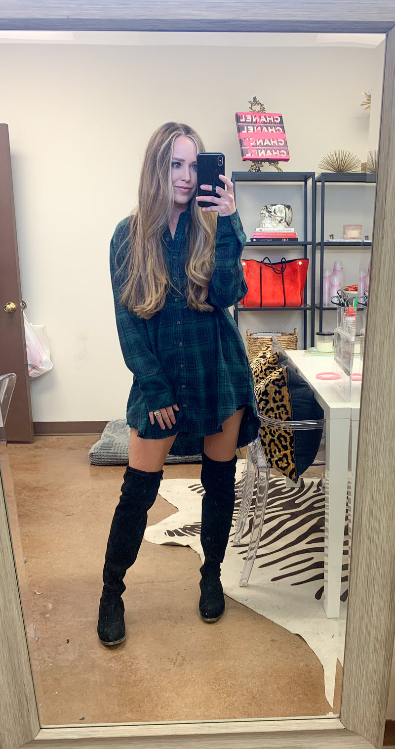 lumberjack flannel dress