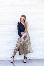 sequin snake skirt