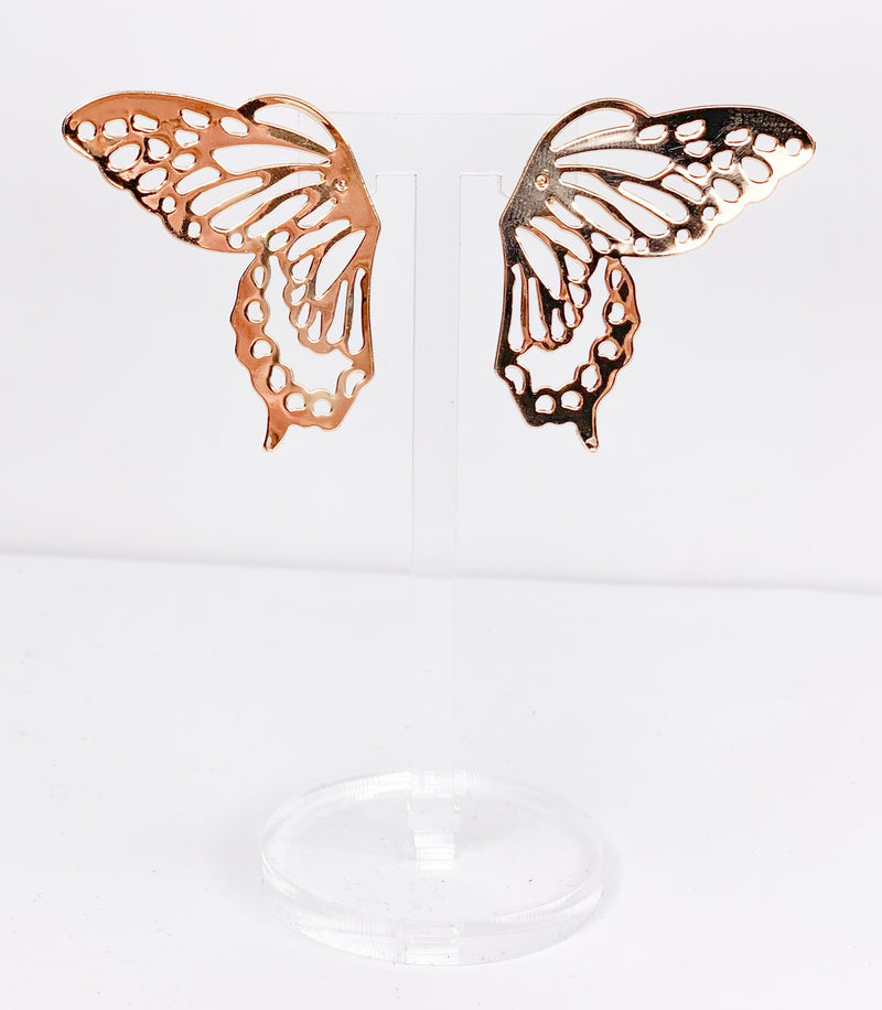 gold butterfly wings - flat