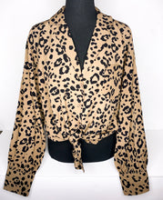 Load image into Gallery viewer, leopard button-up long sleeve