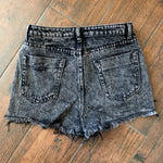 stone cold acid wash denim shorts