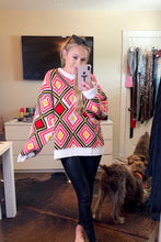 Load image into Gallery viewer, red geometric sweater