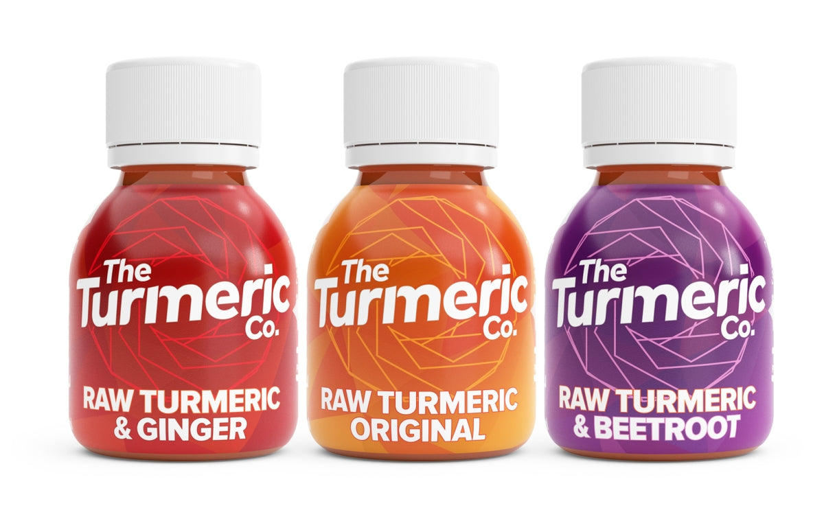 Three of The Turmeric Co Best Selling Shots