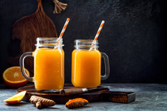 turmeric smoothie with shot turmeric