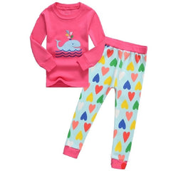 f528b9e4d4157 ... Hooyi Dog Baby Girls Pajamas Suits 2 3 4 5 6 7 years Children Clothes  Sets ...