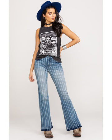Rock & Roll High Rise Trouser Striped
