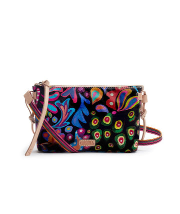 Consuela Teeny Crossbody Black Swirly