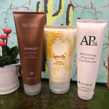 Nuskin Insta Glow, Body Butter and Toothpaste