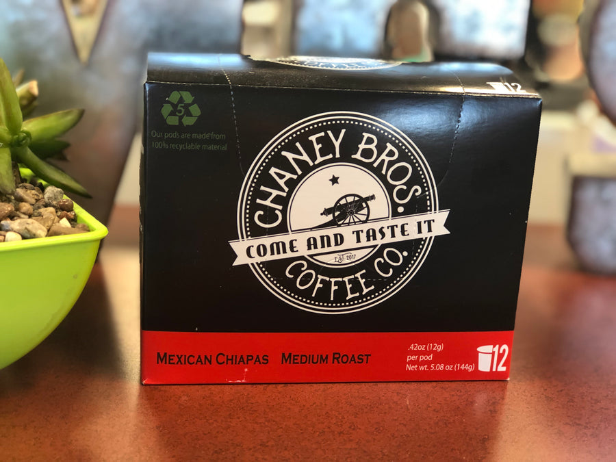 Chaney Bros. Mexican Chiapas Coffee Pods