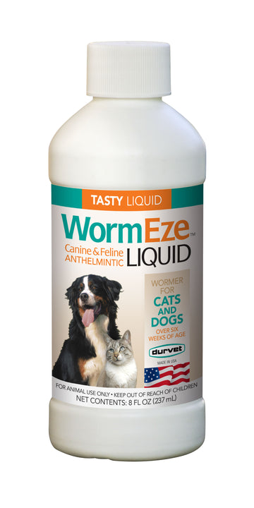 Durvet WormEze Liquid 8FL OZ Dog and Cat