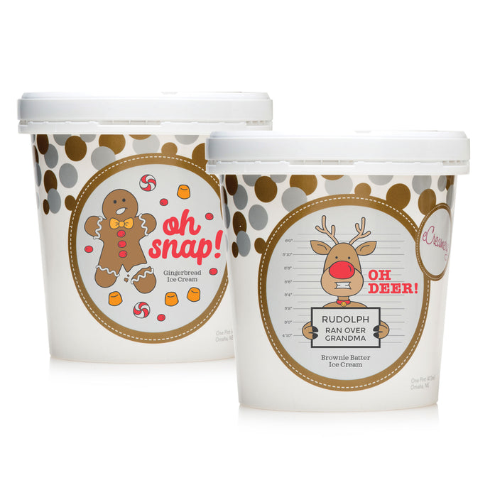 2 Pint Holiday Collection - Gingerbread Cookie & Brownie Batter