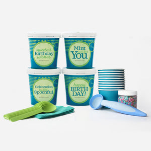 Birthday Premium Ice Cream Party Collection - 4 pints + Party Pack & Toppings - eCreamery