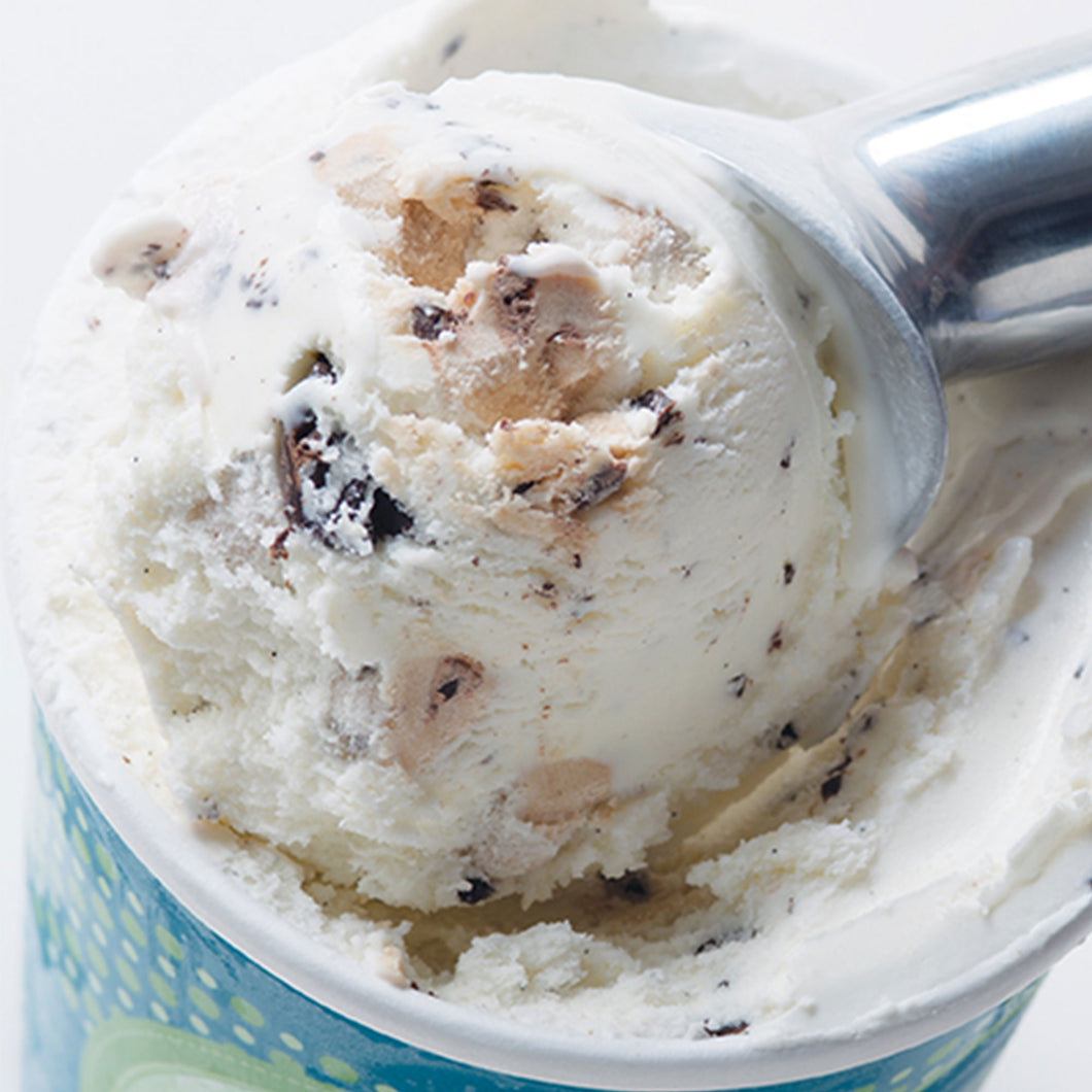 Vanilla Ice Cream with Chocolate Chips & Cookie Dough - eCreamery