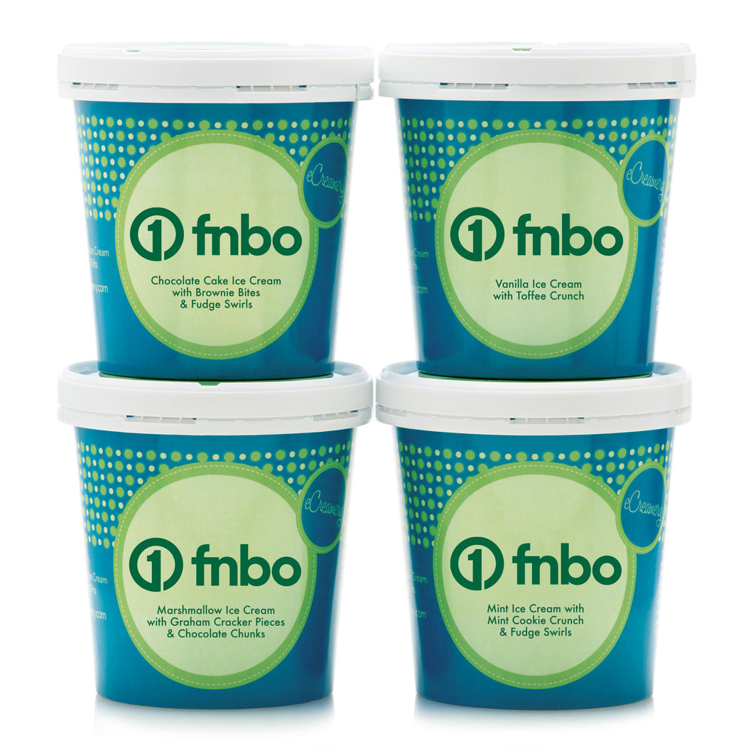First National Bank 4 Pint Corporate Ice Cream Collection