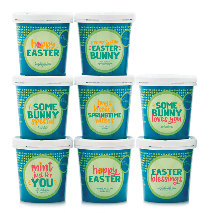 Easter Deluxe Ice Cream and Cookie Collection - 8 Pints & 24 Cookies