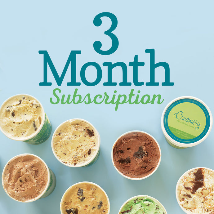 3 Month Subscription to Flavor of the Month Club - eCreamery