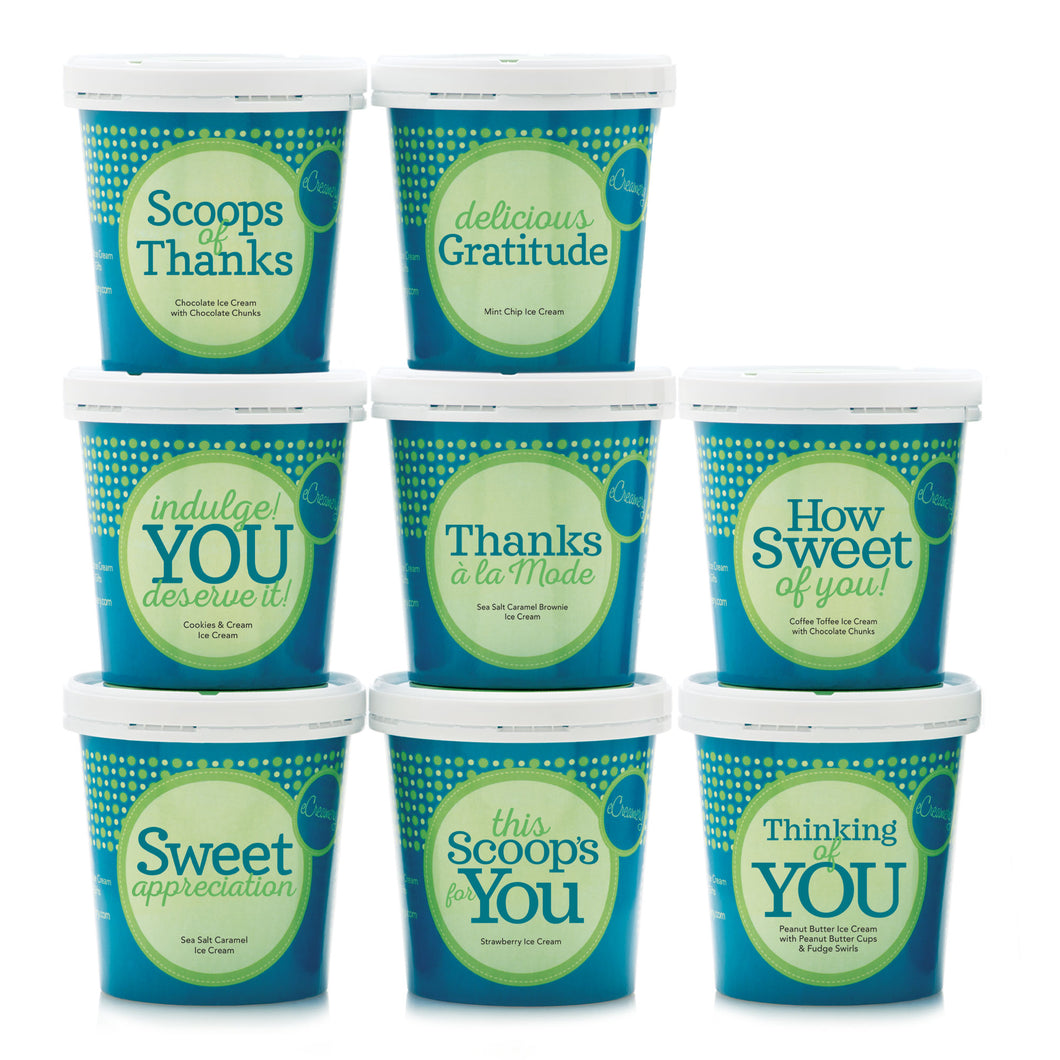 Ultimate Thank You Ice Cream Collection - 8 Pints