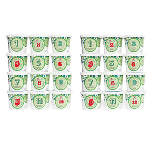 Twelve Days of Christmas - 24 Party Cups (2 sets of 12)