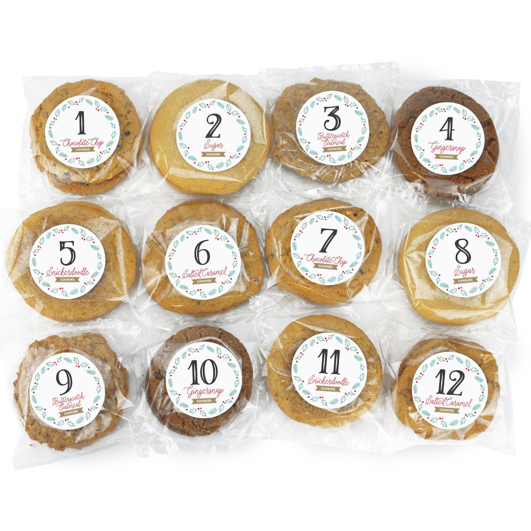 12 Days of Cookie Collection - 24 Gourmet Cookies