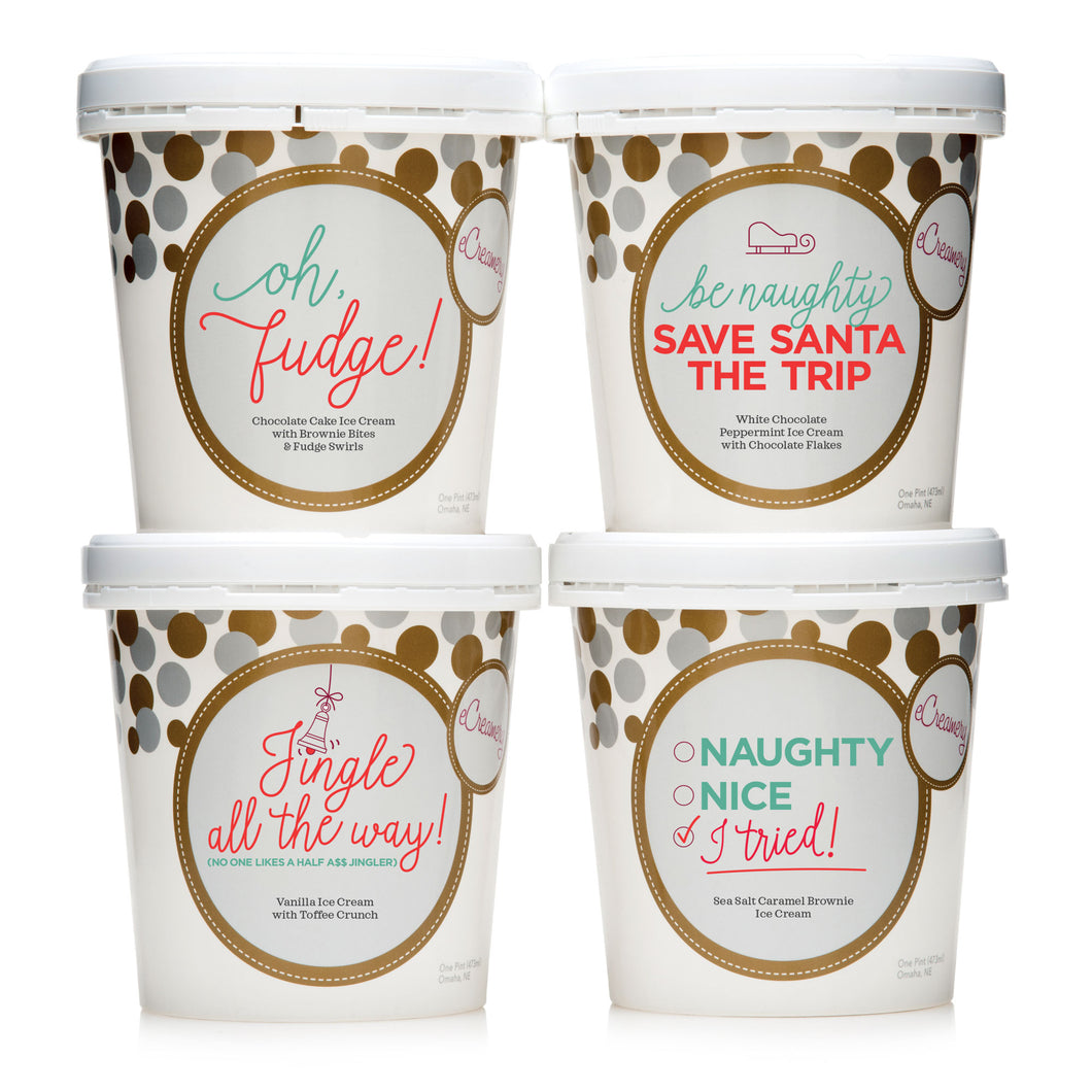 Humorous Holiday Ice Cream Collection - Funny Ice Cream Gift