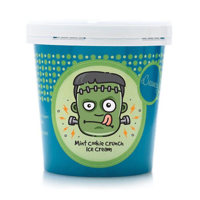 1 Pint - Frankenstein Mint Cookie Crunch Ice Cream