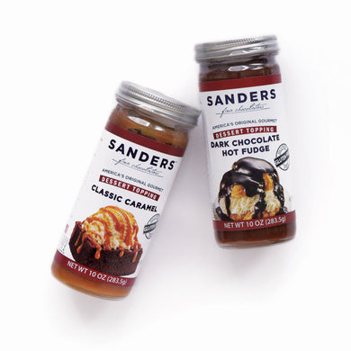 Sanders Premium Caramel & Chocolate Sauce Set - eCreamery