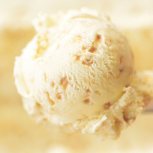 Vanilla Ice Cream with Toffee Pieces - Butter Brickle Ice Cream