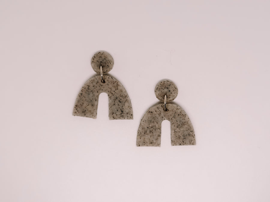 Speckled Arch Clay Earrings