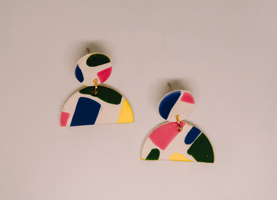 Shape Clay Earrings