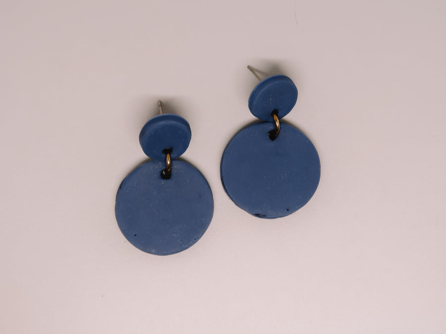 Navy Clay Earrings
