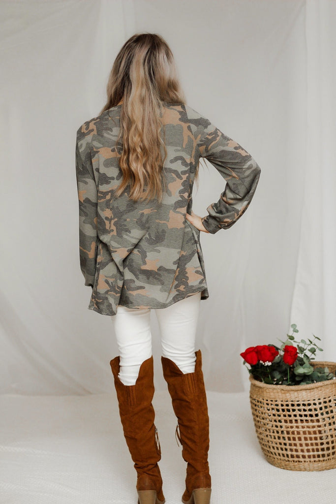 Hidden in plain sight camo top