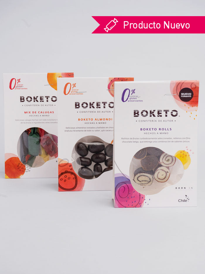 Pack Boketo Roll - Mini Calugas - Boketo Almondi