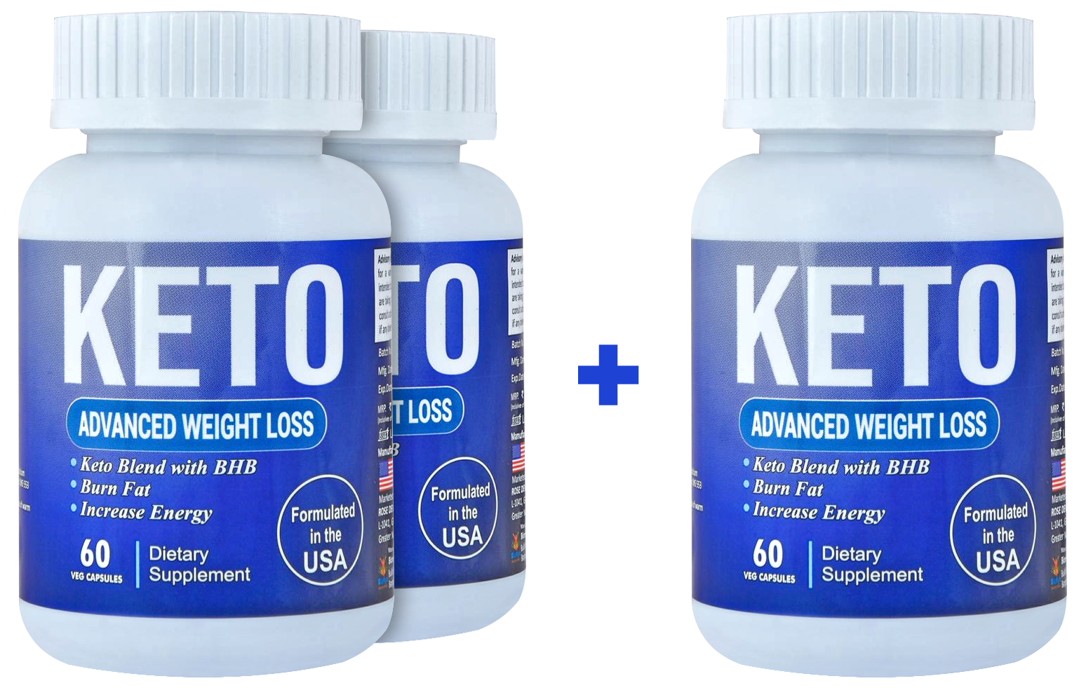Keto Advanced Weight Loss Supplement Natural Fat Burner Green Tea, Garcinia Cambogia, Green Coffee, Apple Cider Vinegar (180 Capsules) - Pack of 3