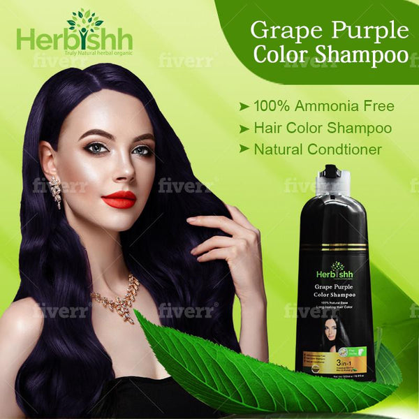 Purple Herbishh Color Shampoo