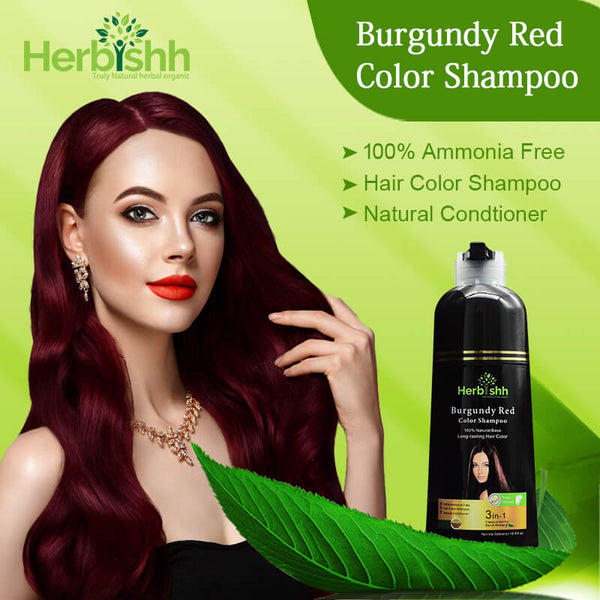 Burgundy Red Herbishh Color Shampoo